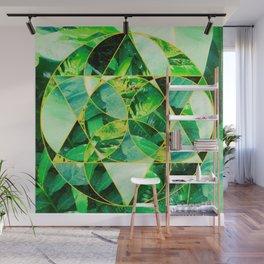 Hawaiian Jungle Abstract Mosaic Wall Mural
