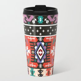 Fancy abstract geometric pattern in tribal style Travel Mug