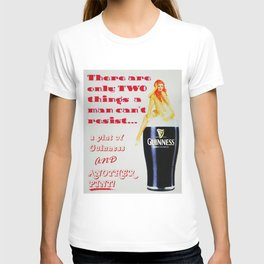 There are only two things men cannot resist Vintage Guinness Beer Advertisement Poster T-shirt