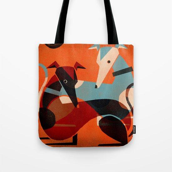 GREYHOUND PAIR Tote Bag