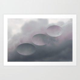 Pink Tilt Shift Ovals Art Print