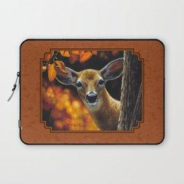 Whitetail Deer Face Laptop Sleeve