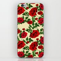 roses iPhone & iPod Skins featuring roses  by mark ashkenazi