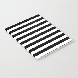Black and White Horizontal Strips Notebook