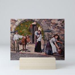 SARDINIAN MURALS in FLUSSIO  Mini Art Print