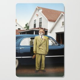Mr. Fox posing with his new car Cutting Board