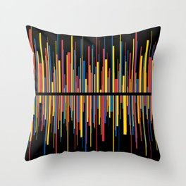 LINE w/black Throw Pillow
