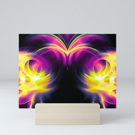 abstract fractals mirrored reaclsh Mini Art Print