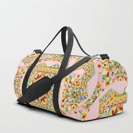 Pink Polka Dot Gypsy Caravan Duffle Bag