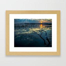 Lake Champlain Vermont Sunrise - 1 Landscape Framed Art Print
