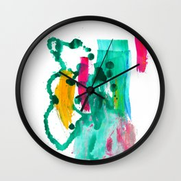 """""""Never Let Me Go"""". Phthalo Green Series, No. 8 Wall Clock"""