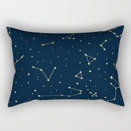 star zodiak space circle sky line light blue yellow Rectangular Pillow