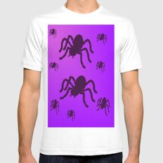Spider Invasion White SMALL Mens Fitted Tee