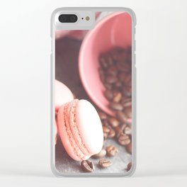 Sweet cakes with coffeebeans in a cup Clear iPhone Case