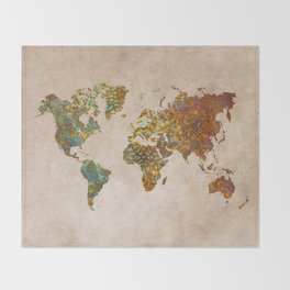 World map Throw Blanket