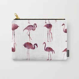 Summer Flamingos Pink Carry-All Pouch