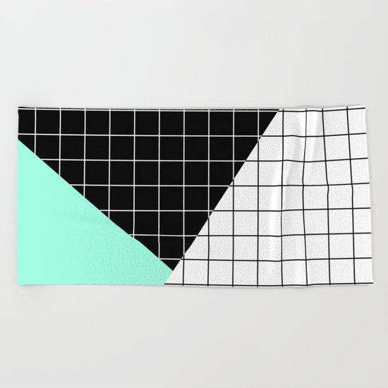 Minimal Geometry II Beach Towel