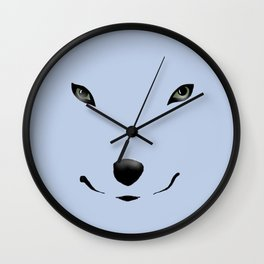 Wolf's Face Wall Clock
