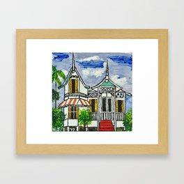 Colonial House Framed Art Print