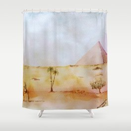 Giza Pyramid Shower Curtain