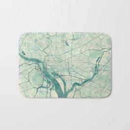 Washington Map Blue Vintage Bath Mat