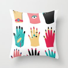 Hands Throw Pillow