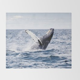 Humpback Whale Ocean Throw Blanket