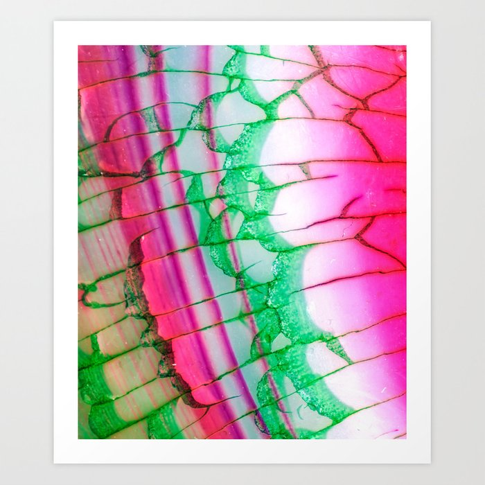 Psychedelic Tie Dye Quartz Kunstdrucke