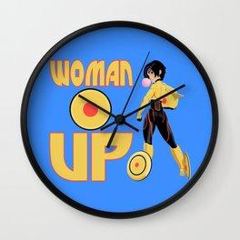 Woman Up!!!! Wall Clock
