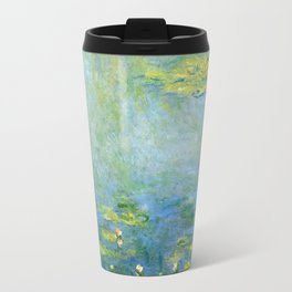 1906-Claude Monet-Waterlilies-73 x 92 Travel Mug