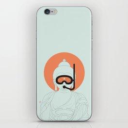 Buddha : Take A Deep Breath! iPhone Skin