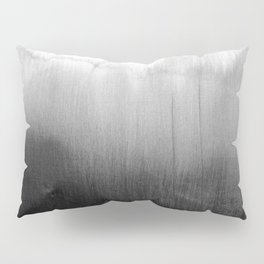 Modern Black and White Watercolor Gradient Pillow Sham