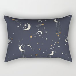 The moon and stars Rectangular Pillow