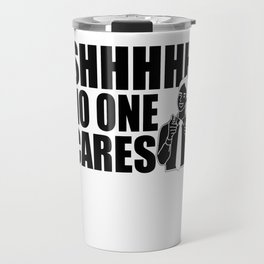 Sarcasm flap Hold No One Cares Gifts Travel Mug