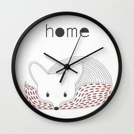 Fox home Wall Clock