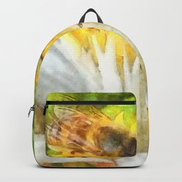 Bees and Flowering Plants Watercolor Backpack