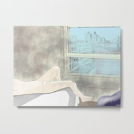 Woman at a New York Evening Siesta Metal Print