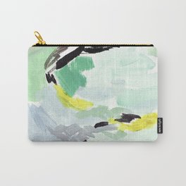 Twirl Green: Abstract Painting Carry-All Pouch