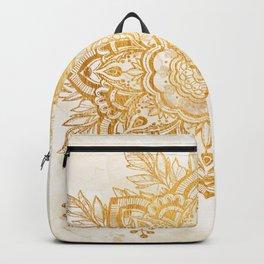 Queen Starring of Mandala-Gold Sunflower II Backpack