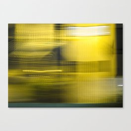 Yellow Lights Speed Effect Canvas Print