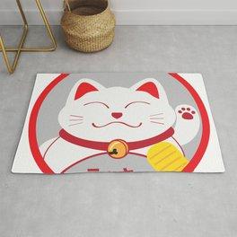 lucky cat maneki neko style japanese Rug