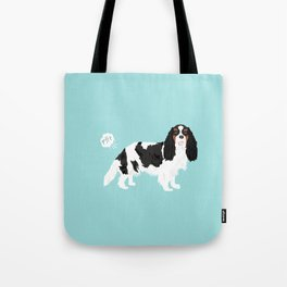 Cavalier King Charles Spaniel tricolored funny farting dog breed gifts Tote Bag