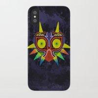 majoras mask iPhone & iPod Cases featuring Majora's Mask Splatter by Greytel