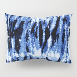 Blue Shibori Z Pillow Sham