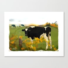 Cow Folk Canvas Print