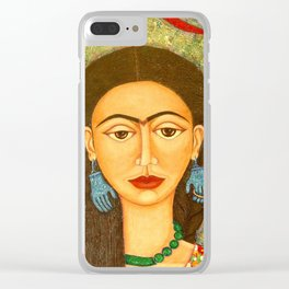 My homage to Frida Kahlo Clear iPhone Case