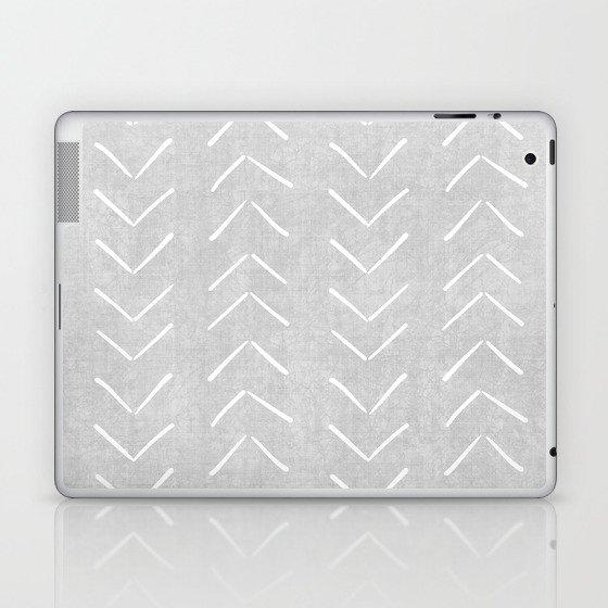 Mudcloth Big Arrows in Grey Laptop & iPad Skin