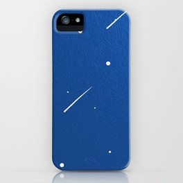 Shooting Stars in a Clear Blue Sky iPhone Case