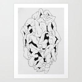 Body mash II Art Print