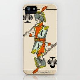musical poker / Baroque oboe iPhone Case